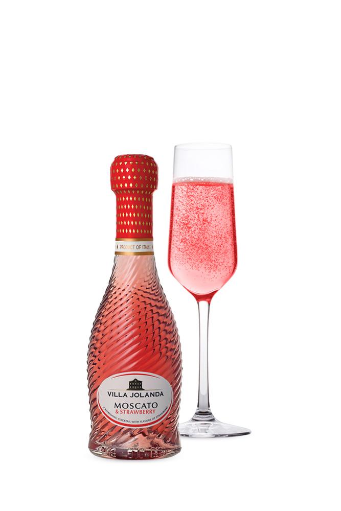 Moscato Asti & Strawberry Villa Jolanda 200ml | planv.gr