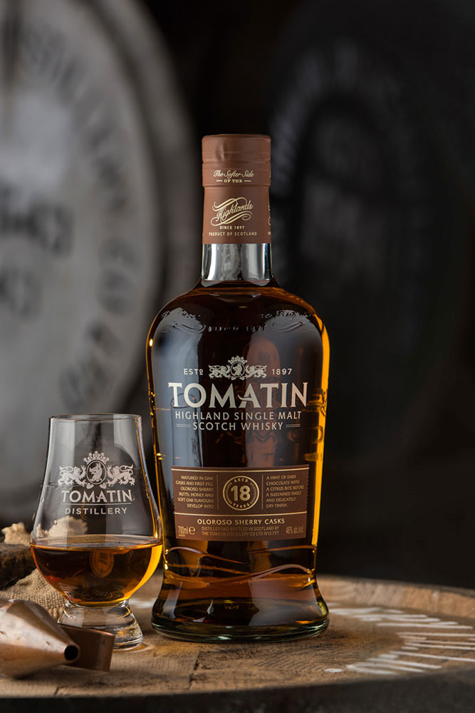 18 Years Tomatin Single Malt Whisky pres